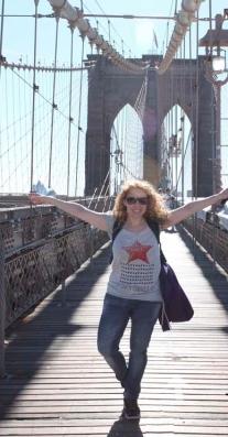 Cruzando el Puente de Brooklyn
