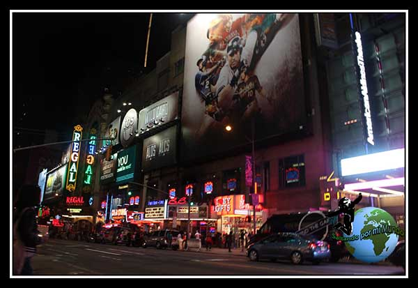 Paseando por la zona de Times Square