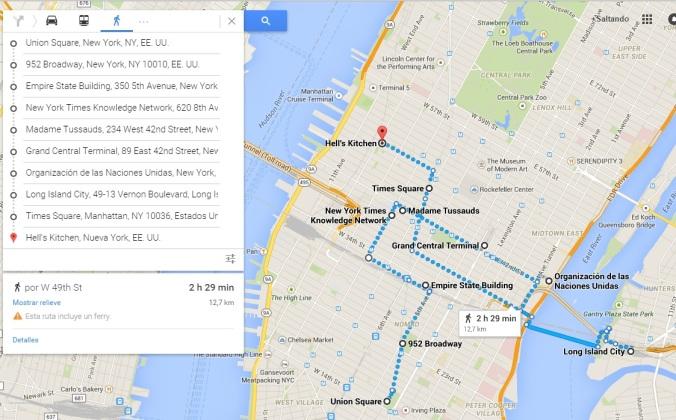 Más o menos nuestro recorrido por New York - Día 1