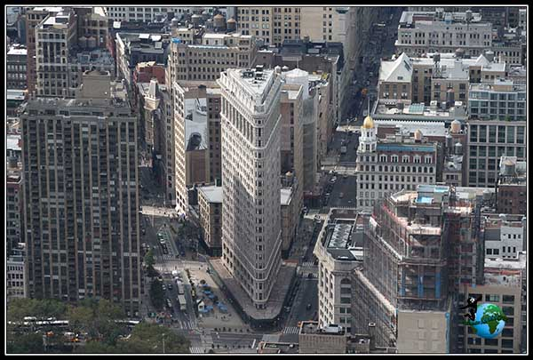 Flatiron Building desde el Empire State Building