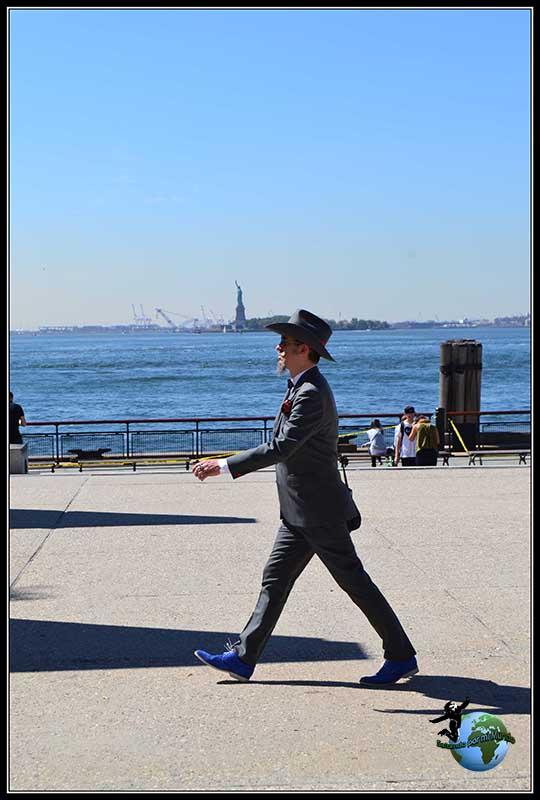 Personaje curioso que puedes ver paseando por Battery Park3