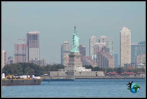 Estatua de la Libertad desde el Ferry a Staten Island