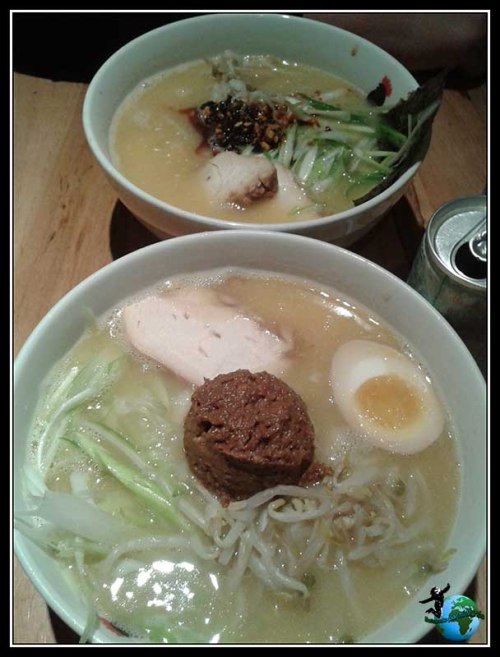 Platos de Ramen en Totto Ramen en New York