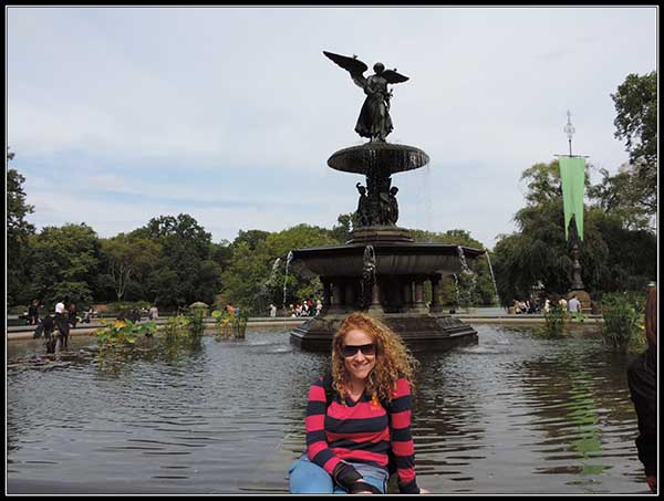 Fuente en Central Park, en New York