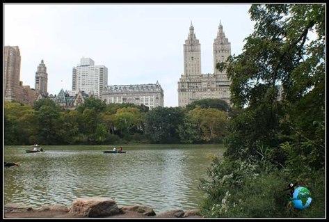 Vista de New York desde el lago