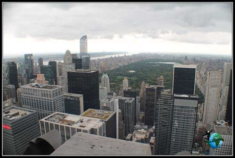Vistas de Central Park desde el Top of the Rock en New York