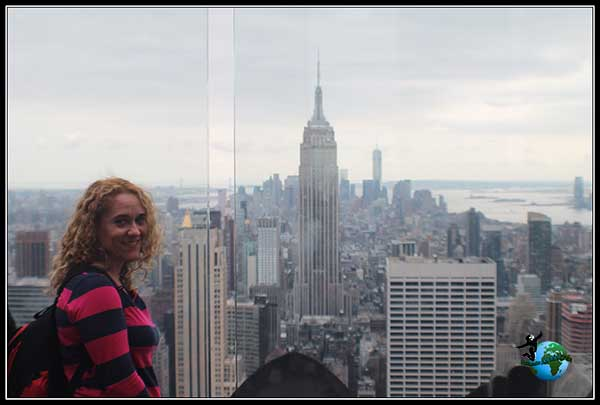Vistas del Empire State Building desde el Top of the Rock en New York