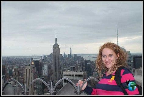 Vistas sin barrera visual desde la planta 70 del Rockfeller en New York