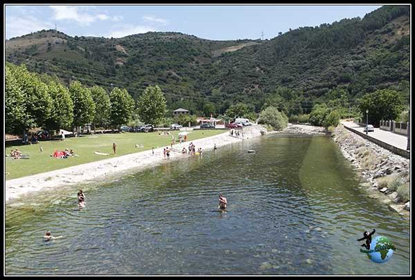 Zona de la Playas en Villafranca del Bierzo