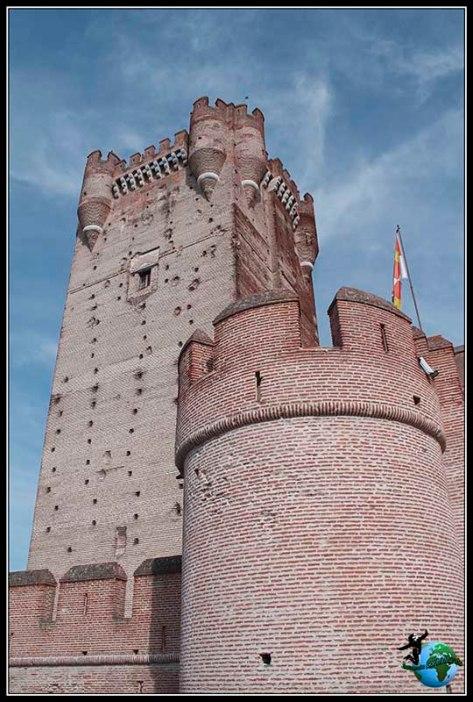 Torre del homenaje en el Castillo de la Mota en Medina del Campo