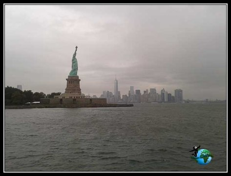 Mahattan y Lady Liberty juntas, New York
