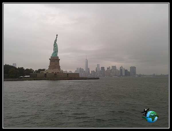 Mahattan y Lady Liberty juntas, New York