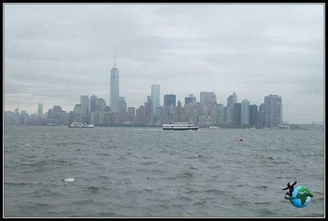 Vistas desde el Ferry de vuelta a Manhattan, New York