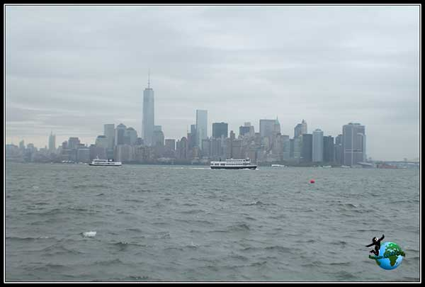 Vistas desde el Ferry de vuelta a Manhattan, New York