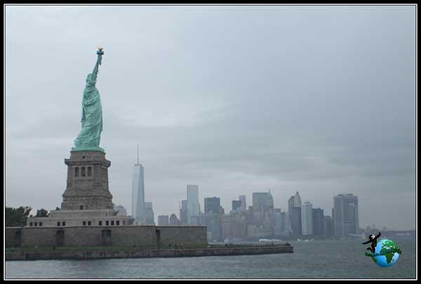 Manhattan y la Estatua de la Libertad juntas, New York