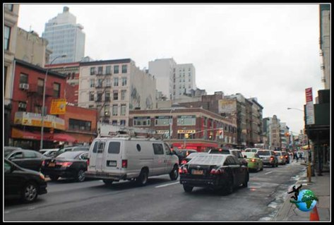 Bowery Street en Chinatow, en New York