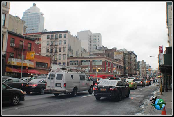 Bowery Street en Chinatow, en New York