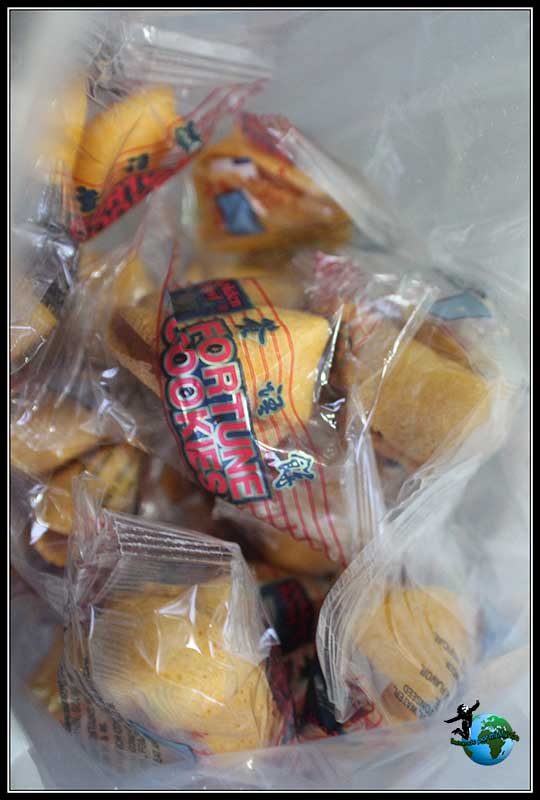 Galletas de la fortuna en China Town de New York