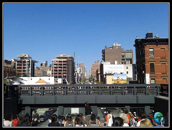 Uno de los accesos al High Line Elevated Park de New York
