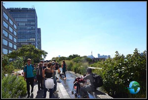 High Line Elevated Park de New York en plena ebullición.