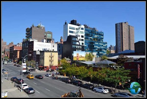 Bonitas vistas desde el High Line Elevated Park en New York.