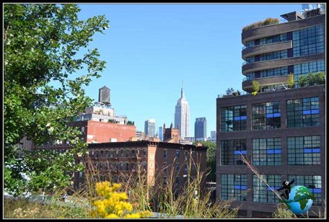 Recorriendo el High Line Elevated Park de New York.