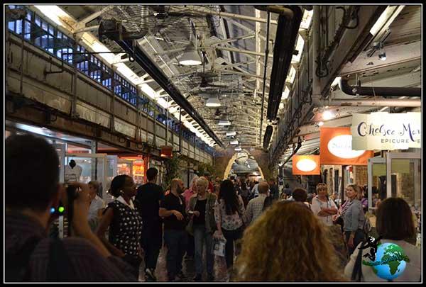 Paseando por Chelsea Market en New York.