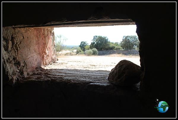 Interior del Búnker Blockhaus-13 en Colmenar del Arroyo.