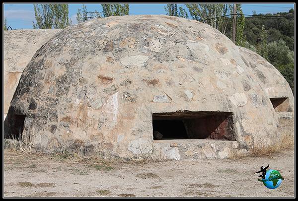Detalle de uno de los nidos de ametralladoras circulares del Blockhaus 13.