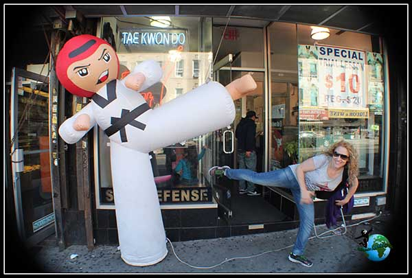 Que nadie se meta conmigo que se Karate!!!! Paseando por Brooklyn.