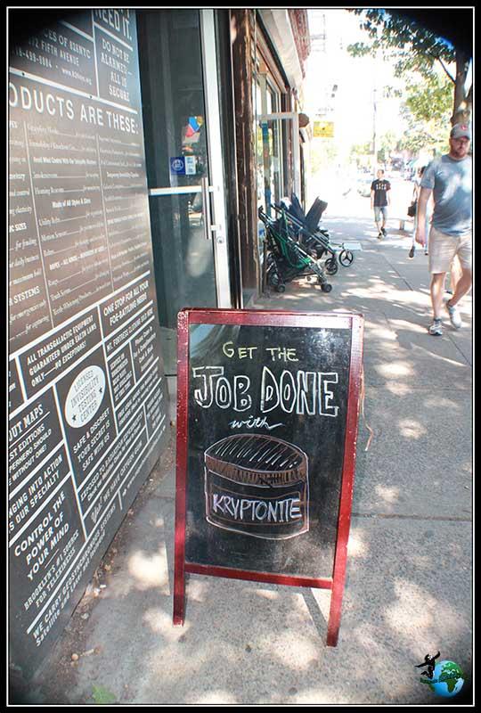 También venden Kriptonita en Brooklyn Superhero Supply en New York.
