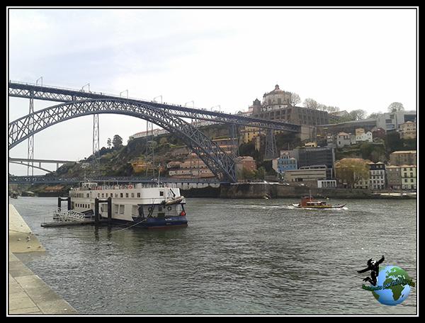 Vistas desde nuestro Restaurante en la Ribeira de Oporto.