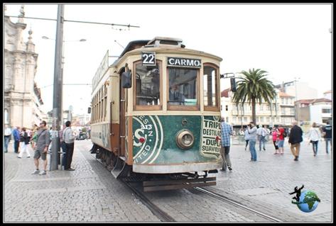 Eléctrico en Oporto.