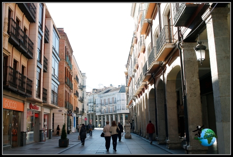 Calle Mayor de Palencia.