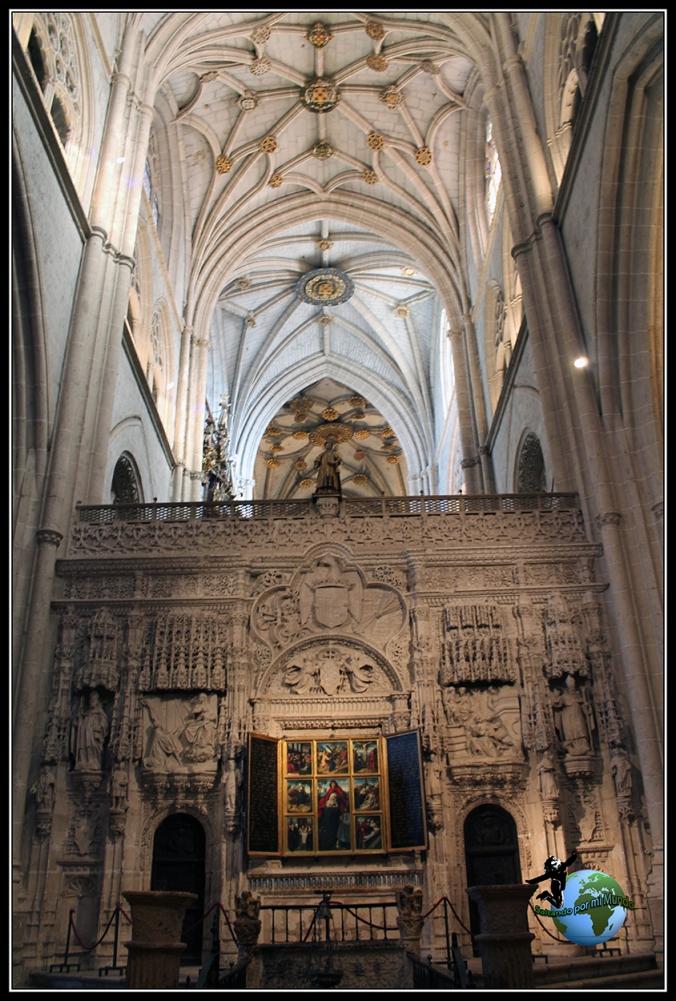 Altar gótico en la Catedral de Palencia.