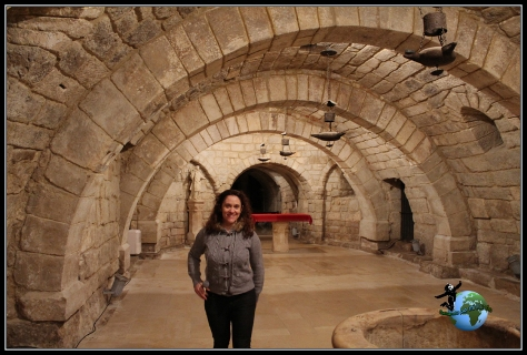 Cripta gótica de la Catedral de Palencia.