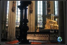 Reliquiario de los Reyes Magos en la Catedral de Colonia.