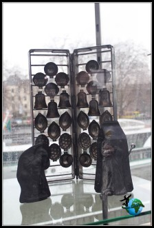 Diferentes moldes para hacer las figuras de chocolate en el Museo del Chocolate de Lind en Colonia.