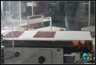 Maquinaria para la producción de chocolate en el interior del Museo de Chocolate Lind de Colonia.