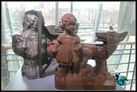 Diferentes figuras de chocolate en el Museo del Chocolate de Lind en Colonia.