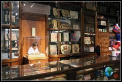 Recorriendo la exposición del interior del museo del chocolate de Lindt de colonia.