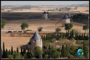 Serían estos molinos los que lucharan contra Don Quijote, en Belmonte?