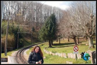 Estación del tren cremallera en La Rhune, Francia