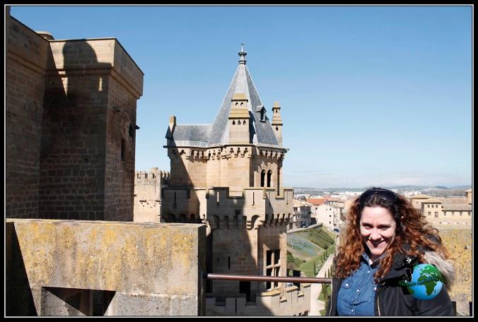 Vista desde uno de los torreones del Castillo de Olite, Navarra