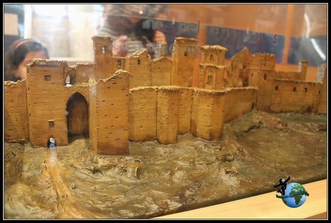 Maqueta del estado en el que se encontró el Palacio Real de Olite antes de su restauración, Navarra