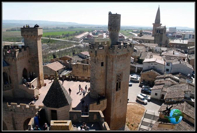 Vistas desde el Palacio Real de Olite, Navarra