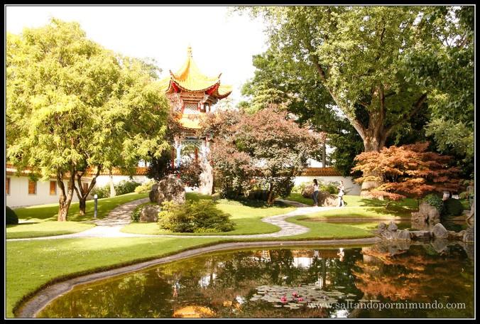 Paseando por el Jardín Chino de Zurich.