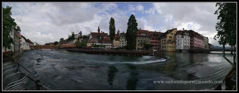 Panoramica del río Reuss en Lucerna