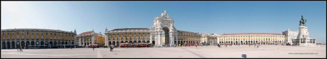 PanoramicaPlaza del Comercio Lisboa
