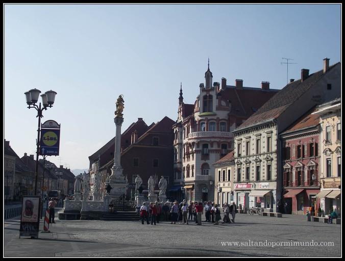 1862 - Columna de la Virgen en Glavni Trg de Maribor lun26-9